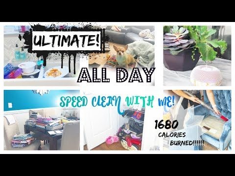 Ultimate All Day Speed Clean With Me! // 1680 Calories Burned!��