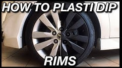 How To Paint Your Wheels using Plastidip or Carlas Rubber Film Paint