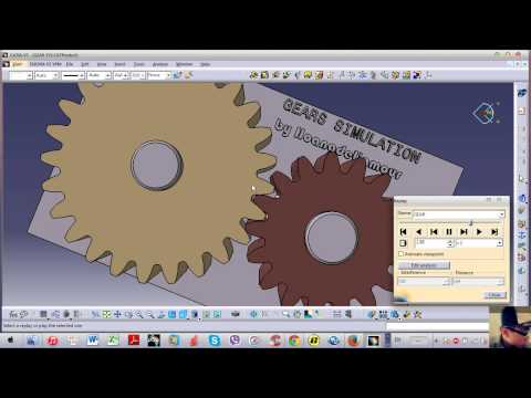 how to make a gear in catia
