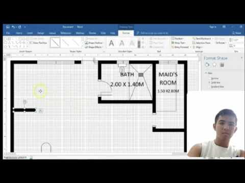 How To Make Floor Plan In Microsoft Word Youtube