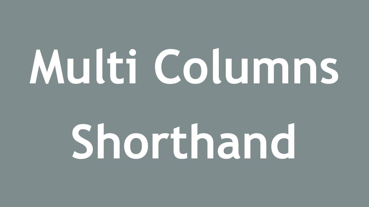 [ Css3 In Arabic ] #38 - Multi Columns - Column Span, Shorthand