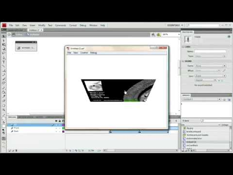 Animated Business Card: Flash CS4 Tutorial