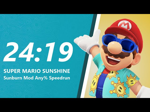 Super Mario Sunburn Any% Speedrun in 24:19