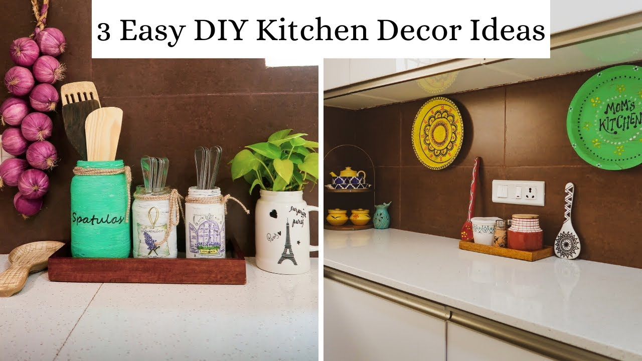 3 Easy Diy Kitchen Decor Ideas With Waste Items Best Out Of Waste Youtube