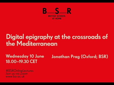 Digital epigraphy at the crossroads of the Mediterranean