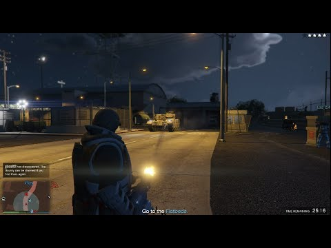 GTA 5 Gunrunning DLC (Bunker Supply Mission Juggernaut Suit)