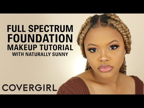 COVERGIRL Full Spectrum Foundation Makeup Tutorial & Wear Test With Naturally Sunny