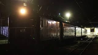 大井川鐵道E101+旧型客車 夜の千頭発車