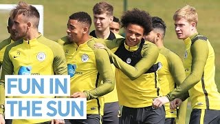 JESUS & KDB CARRY SANE AWAY! | Man City Training