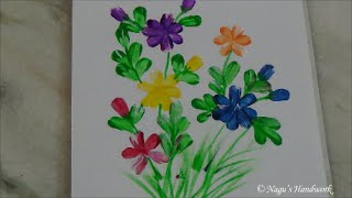 Simple Free Hand Painting Fabric By Nagus Handwork