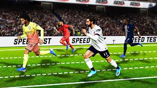 PES 2020 SPEED TEST | who is the fastest player in the game without the ball?