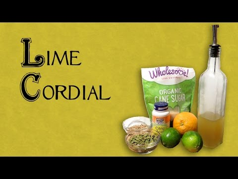 How to Make Lime Cordial - Homemade Version of Rose's Lime Juice (Booze in the Kitchen)