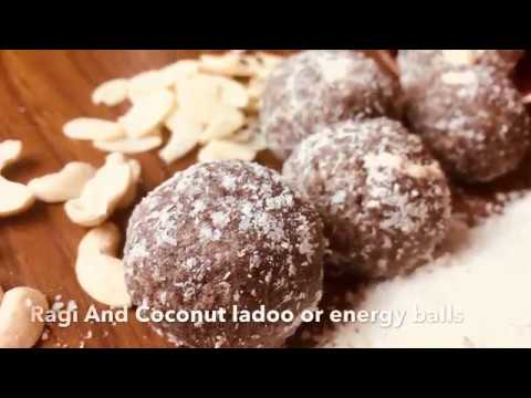 Ragi & Coconut ladoo or energy balls (Vegetarian)