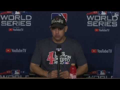 Alex Cora Postgame Interview | Red Sox vs Dodgers World Series Game 5
