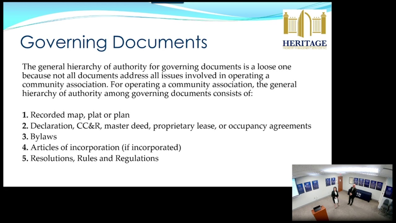 what is a governing document