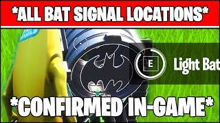 *FIXED* LIGHT UP DIFFERENT BAT SIGNALS OUTSIDE OF GOTHAM CITY LOCATIONS (Fortnite)