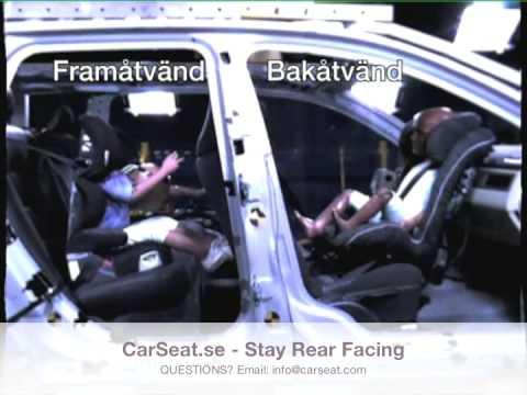 CarSeat.se - Rear Facing Vs. Forward Facing Crash Test