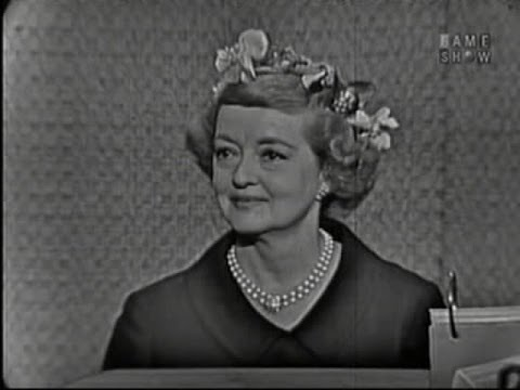 What's My Line? - Bette Davis; Joey Bishop [panel] (Aug 28, 1960)