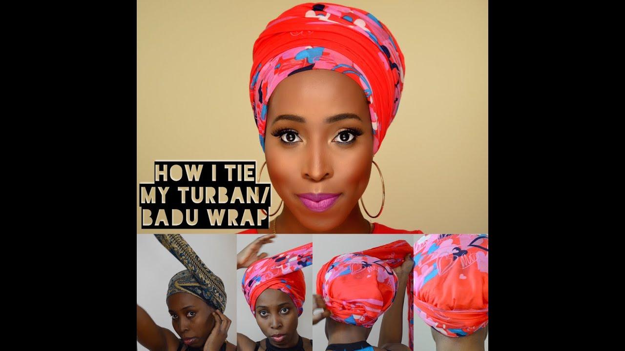 Diy How I Tie Turban Badu Head Wrap Tutorial For Bad