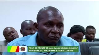 Point de presse de Mme Arlette Soudan-Nonault, Ministre du Tourisme et des Loisirs