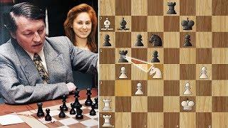 Anatoly Karpov Strangles young Judit Polgar - Linares (1994)