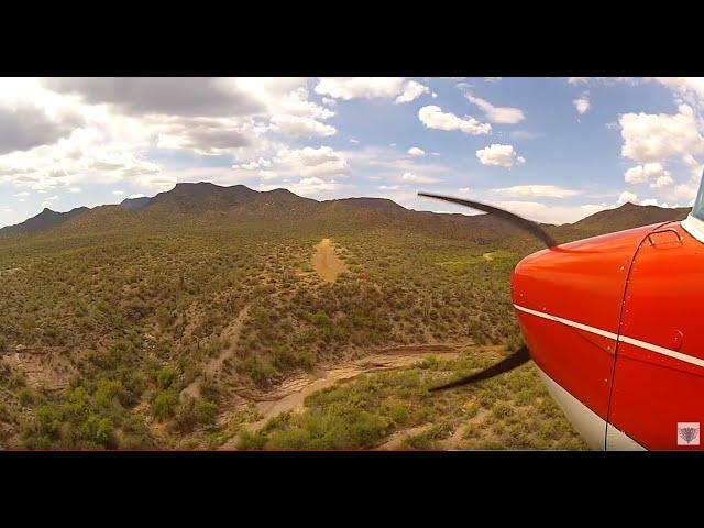 Challenging Arizona Airstrips - Landing Red Creek Airstrip Cessna 150
