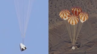 SpaceX Crew Dragon parachute system test