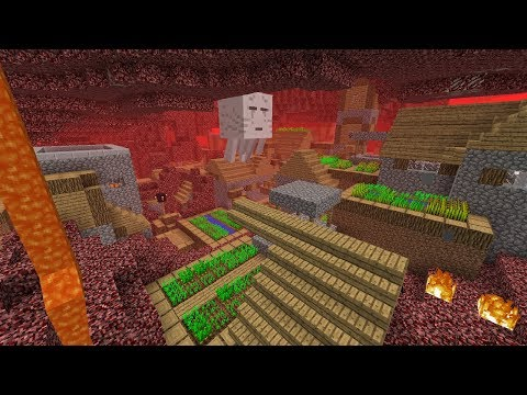 If Villages Appeared in the Nether in Minecraft!