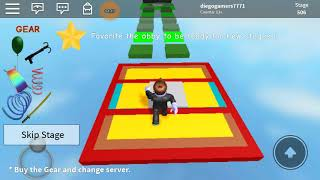 playing roblox at Super Parkour Obby [643]