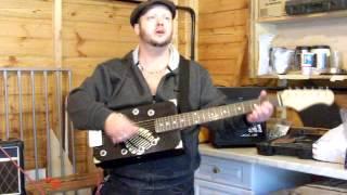 Stumblecol-demo-the Black Shadow-6 String Wine Box Guitar