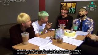 [ENGSUB] BTS RAP MONSTER rants after JIMIN imitated his singing voice
