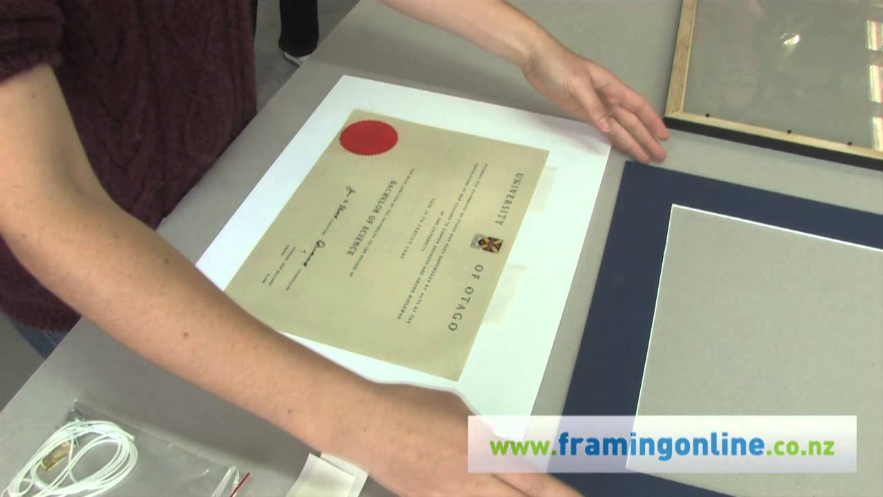 How to Frame a Picture: With a Mat - YouTube