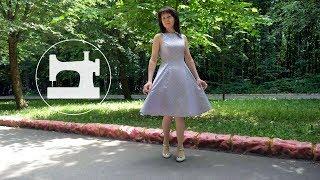 👗 Обзор расклешённого платья из натурального шёлка с рельефными швами