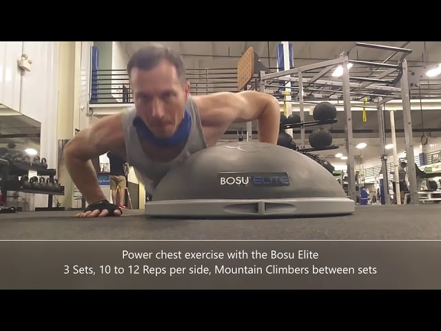Bosu Ball Power Pushup Routine