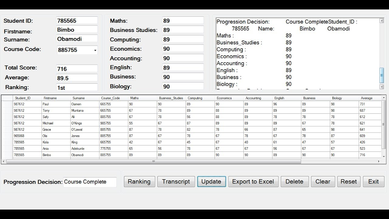 How To Create Students Result Ranking System In C Full Tutorial