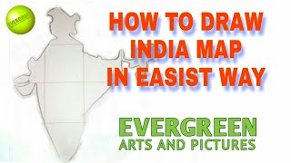 How to draw & practice India Map for school students