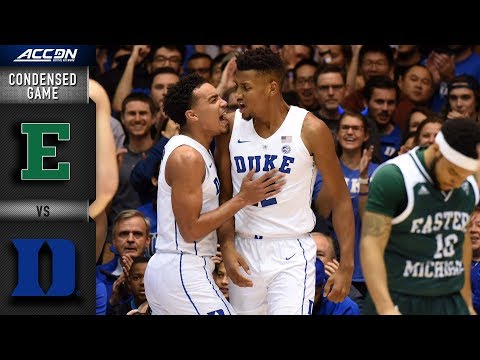 Eastern Michigan vs. Duke Condensed Game | 2018-19 ACC Basketball