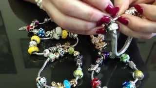 Украшения в стиле пандора: браслеты с металлическими подвесками и стеклянными бусинами(, 2014-05-13T15:47:04.000Z)