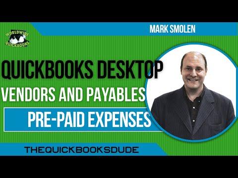 QucikBooks Prepaid Expenses - Prepaid Rent