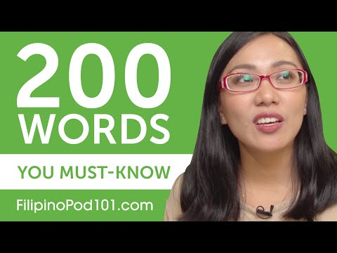 200 Words Every Filipino Beginner Must-Know