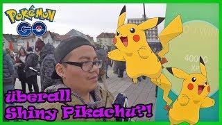ERSTER Pokemon Go Community Day! überall Shiny Pikachu?! Pokemon Go!
