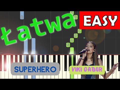 🎹 Superhero (Viki Gabor) - Piano Tutorial (łatwa wersja) (EASY) 🎹