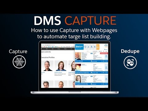 How to use DMS Capture with Webpages to Automate Target-List Building