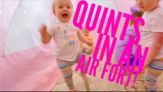 Quints in an Air Fort!