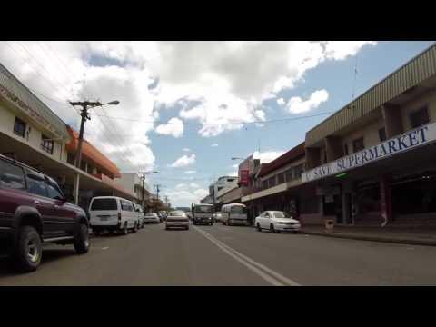 Fidji Viti Levu Route vers Nadi centre ville, Gopro / Fiji Viti Levu Road to Nadi city center, Gopro