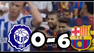 Video Gol Pertandingan HJK Helsinki vs FC Barcelona