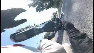Car cuts across lane and knocks down Motorcycle - Marsfield NSW