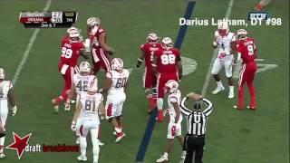 Indiana Hoosiers DT Darius Latham vs. Rutgers Scarlet Knights (2015)
