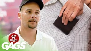 hot girl steals wallet just for laughs gags