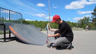 Today I Learned Frontside 50-50 on the 1/4 Pipe & Cracked my Deck
